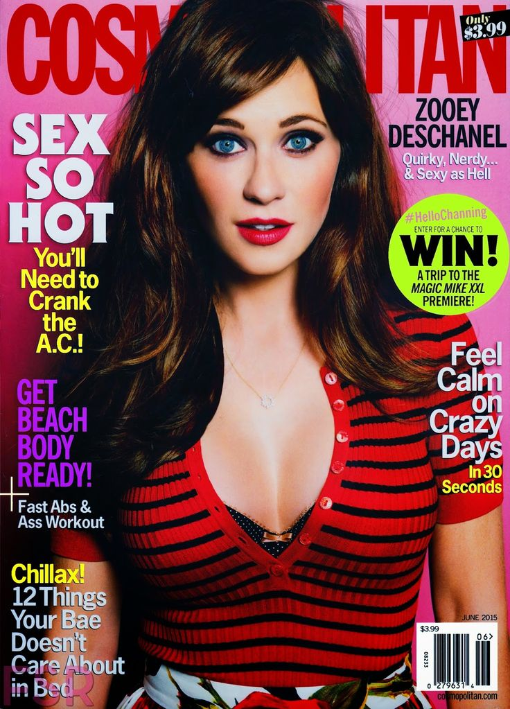 Actress @ Zooey Deschanel - Cosmopolitan June 2015