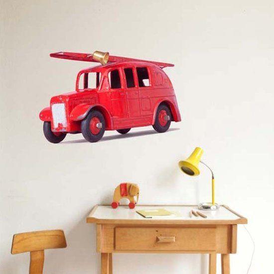 Muursticker Brandweerwagen - De Oude Speelkamer