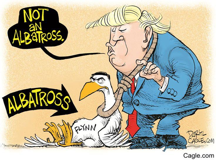 Flynn The Albatross Darylcagle Com Political Cartoons Cartoon