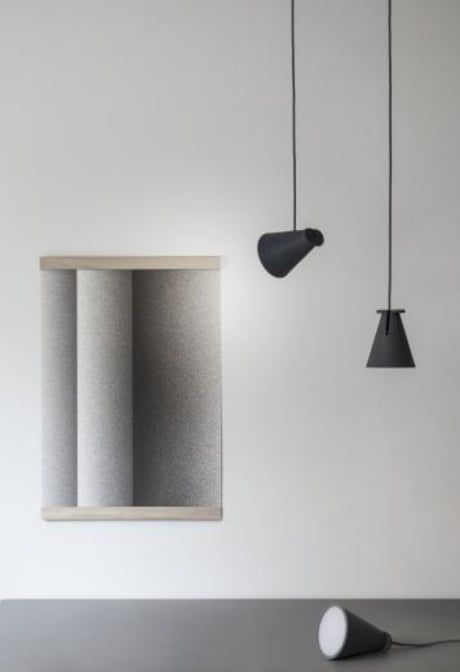 Four lamps in one, this clever silicone lamp is both ingenious design and pared-down Scandinavian simplicity. Bollard can be hung from the ceiling as a traditional pendant, positioned at and angle to provide a spotlight, placed on its side on a side-table or shelf and even positioned on its base to create an upward-shining beam of light.