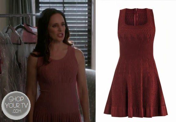 Victoria Grayson (Madeleine Stowe) wore this burgundy ...