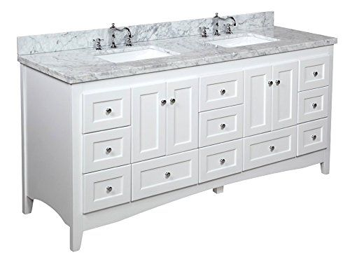 Special Offers - Kitchen Bath Collection KBC3872WTCARR Abbey Bathroom Vanity with Marble Countertop Cabinet with Soft Close Function and Undermount Ceramic Sink Carrara/White 72 - In stock & Free Shipping. You can save more money! Check It (December 26 2016 at 09:58PM) >> http://bathvanitiesusa.net/kitchen-bath-collection-kbc3872wtcarr-abbey-bathroom-vanity-with-marble-countertop-cabinet-with-soft-close-function-and-undermount-ceramic-sink-carrarawhite-72/