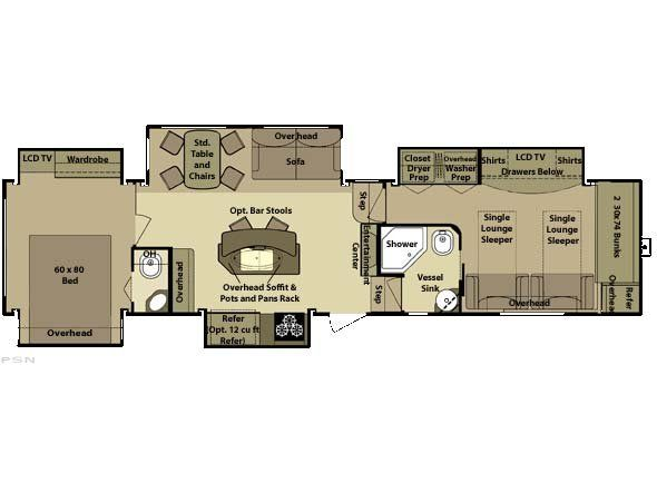 specifications for the 2010 open range 429bhs | campers