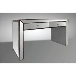 Tenor Transitional Mirrored 2-Drawer Console Table - 580.0000