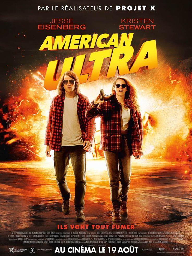 American Ultra est un film de Nima Nourizadeh avec Jesse Eisenberg, Kristen Stewart. Synopsis : Une comédie d'action à propos de Mike Howell dont la vie paisible et sans ambition avec sa petite amie Phoebe se retrouve soudainement chamboulée. À s