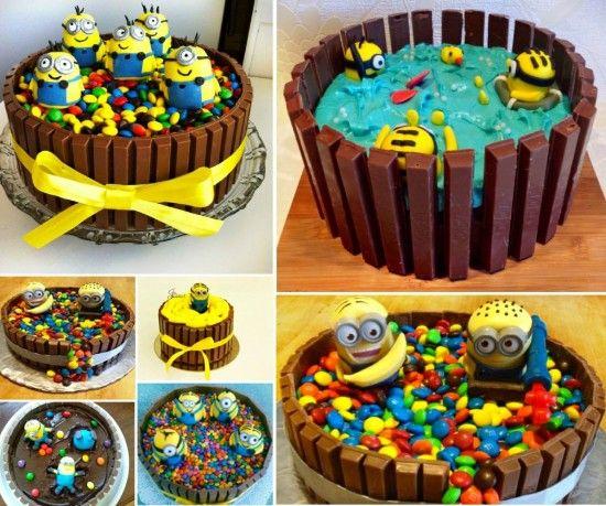 Kit Kat Minion Cakes