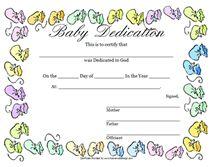 Blank Printable Baby Dedication Certificate To Print