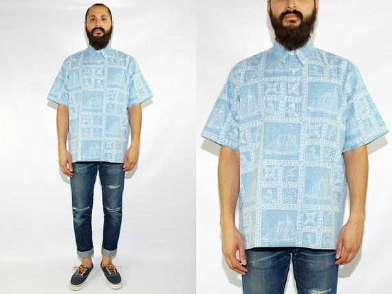 Vintage Reyn Spooner Hawaiian Floral Short Sleeve Popover Shirt Reyn Spooner Sailing Shirt Reyn Spooner Nautical Shirt - Large by DiveVintage from Passport Vintage. Find it now at http://ift.tt/2dY47vW!