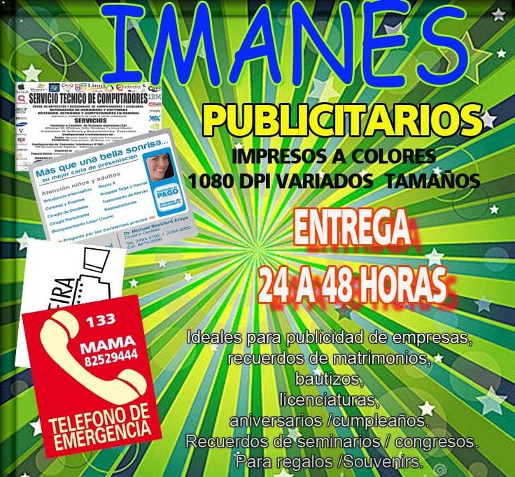 IMANES PUBLICITARIOS  ENTREGA