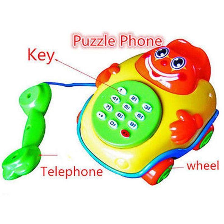 Детские игрушки Музыка Мультфильм Телефон Обучающие Развивающие Детские Игрушки Подарок Новый 2 вид наугад