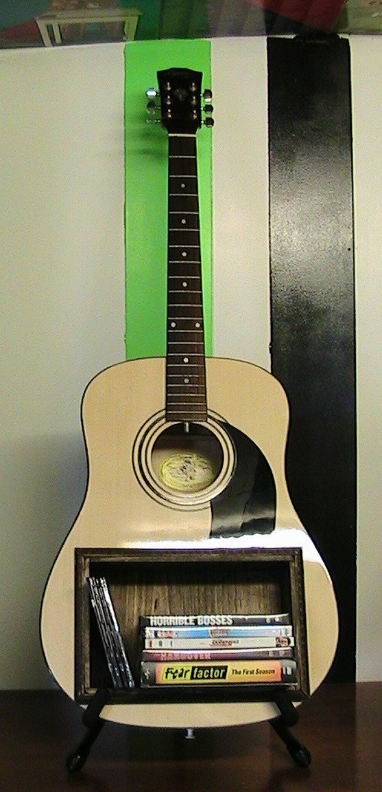 Upcycled Acoustic Guitar Shelf One Of A Kind Acoustic