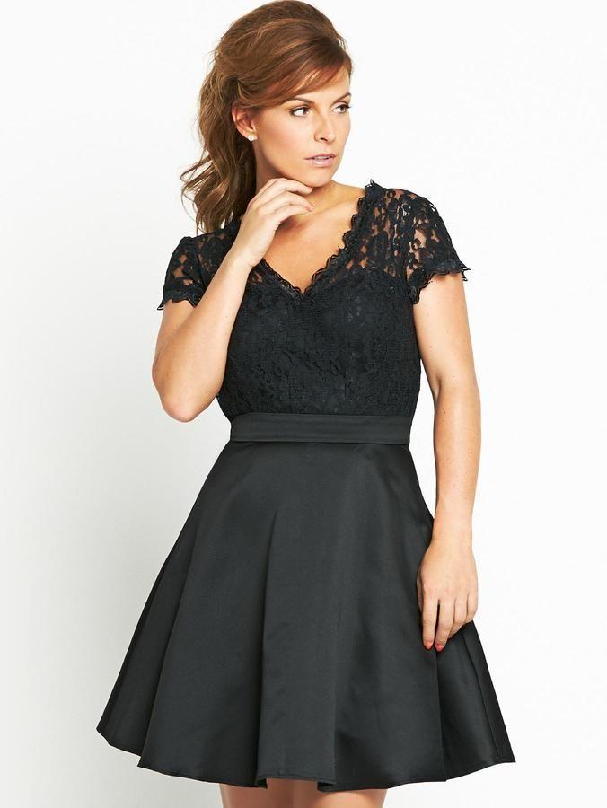 Coleen V-neck Lace Front Dress on shopstyle.co.uk | coleen ...