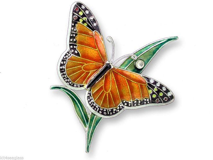 Zarah Monarch Butterfly PIN Sterling Silver & Enamel ...