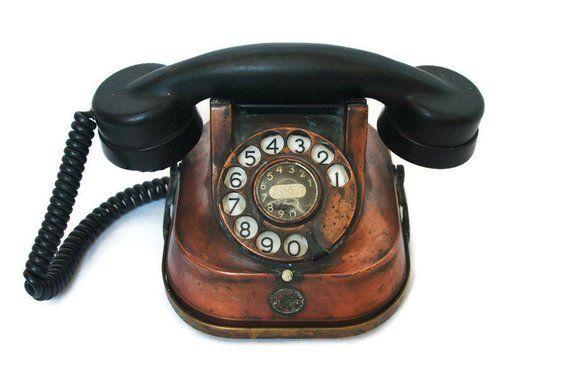 Vintage Bakelite Telephone retro antique dial telephone