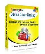 RecoveryFix for Device Driver Backup - Backup & Restore Device Drivers of Windows