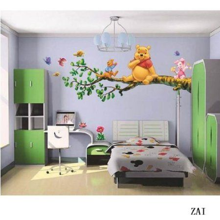 aokeshen 2323906inches winnie lourson sticker mural amovible rutilisable pour enfants