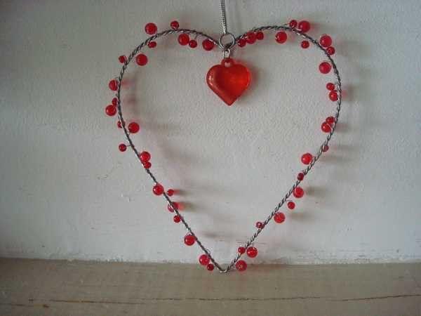 Suspension cœur rouge : 4.50€ Frais de port à seulement 1.90€