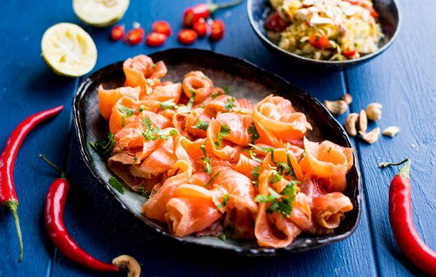 Som tam -salaatti, resepti Kotiliesi.fi Som Tam Salad, recipe Kotiliesi.fi