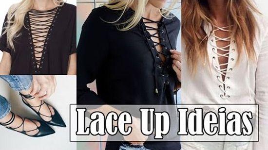 Aprenda a fazer customização de roupas e calçados usando tirinhas trançadas, é a tendência Lace Up.