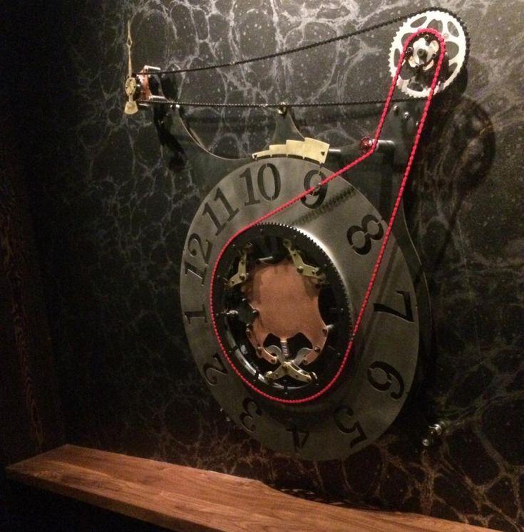 Steampunk, Arduino-powered electro-mechanical clock