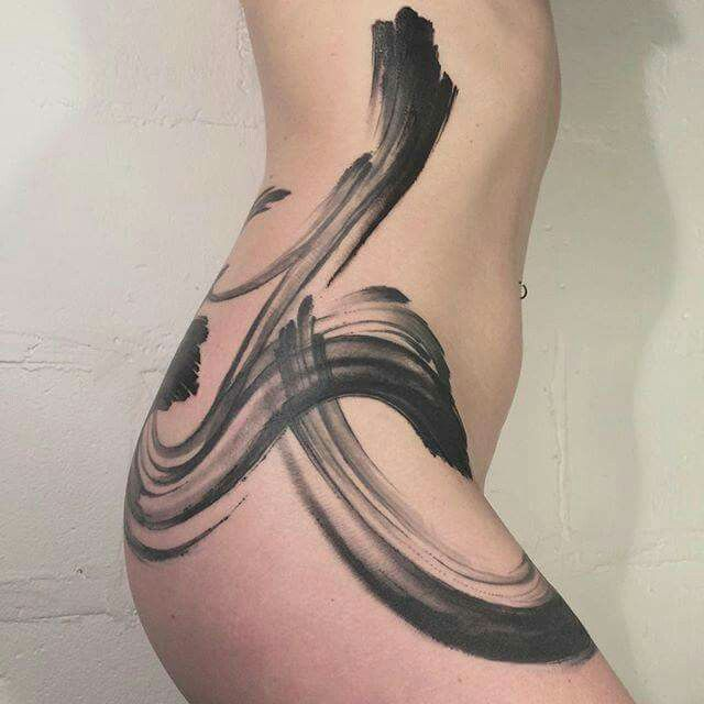 Ink-like tattoo, by Delphine Noiztoy                                                                                                                                                                                 More