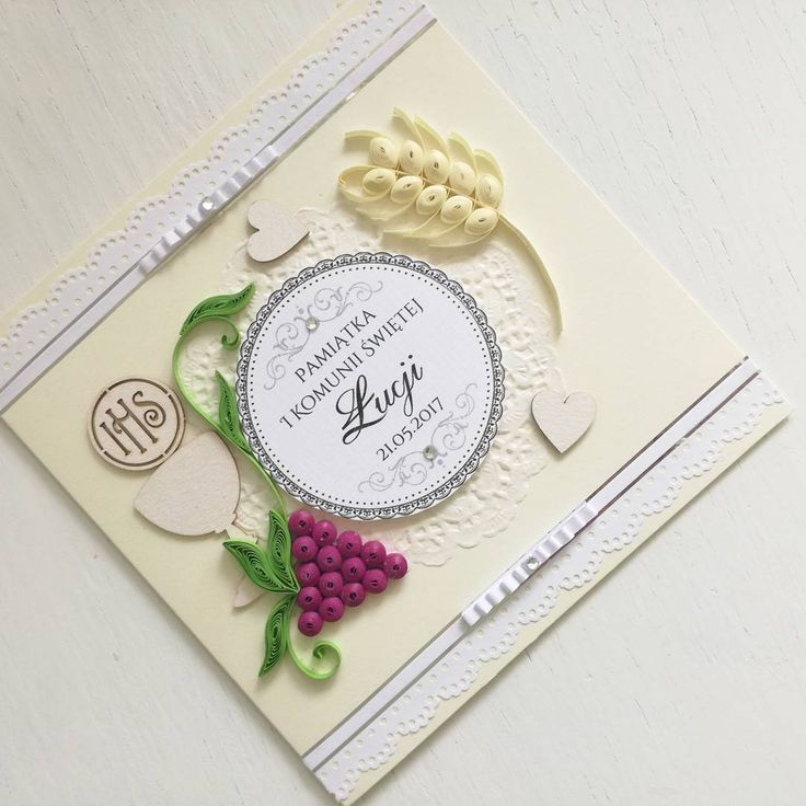 quilling, husking, diy, firstholycomunion