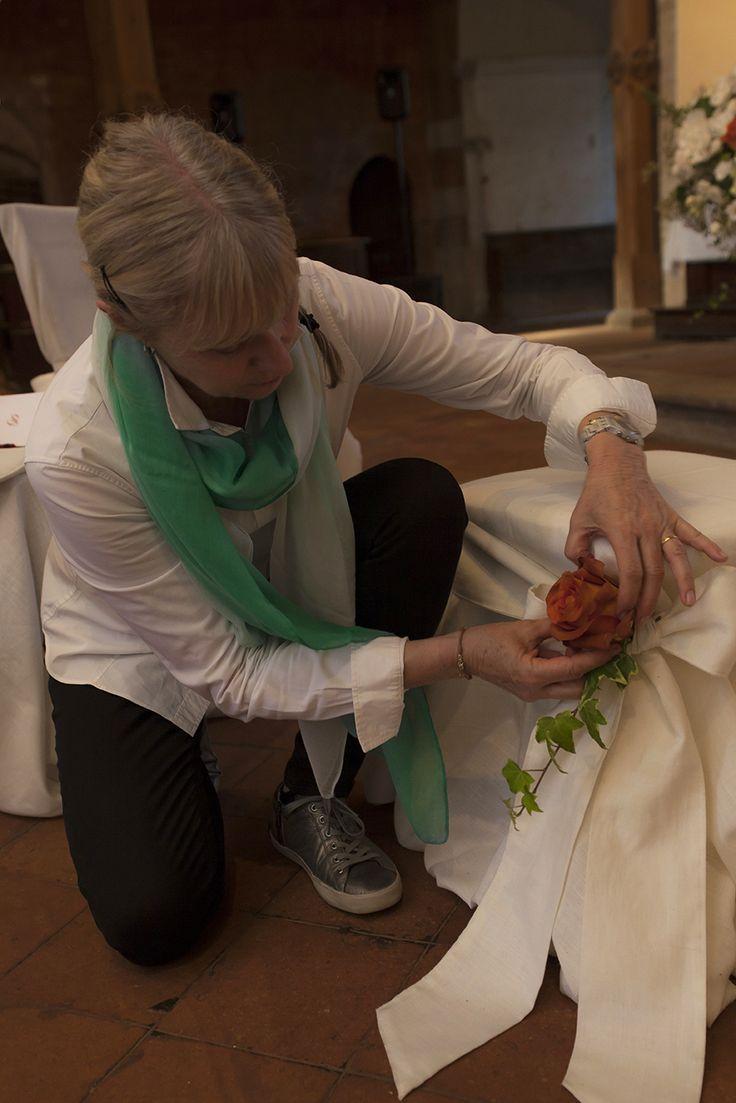 In allestimento in chiesa #matrimonio