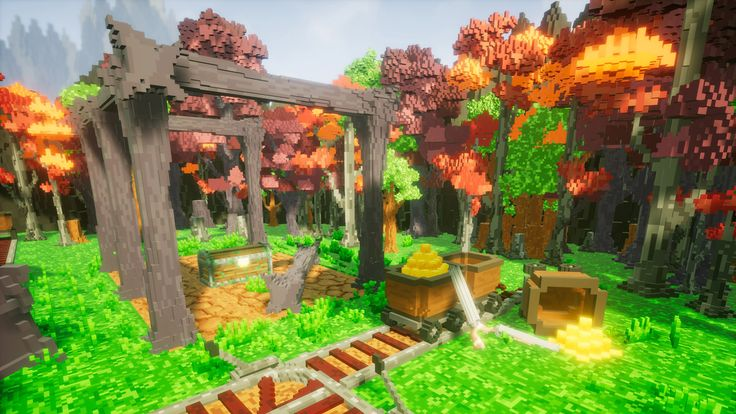 Pro-Vox Environment available on Unreal Market place - Make Your Own voxel games! https://www.unrealengine.com/marketplace/pro-vox-uncharted-voxel-nature-pack?utm_campaign=crowdfire&utm_content=crowdfire&utm_medium=social&utm_source=pinterest #indiedev #gamingart #unrealengine