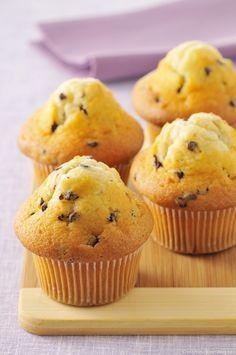 Muffins à l'orange et aux pépites de chocolat