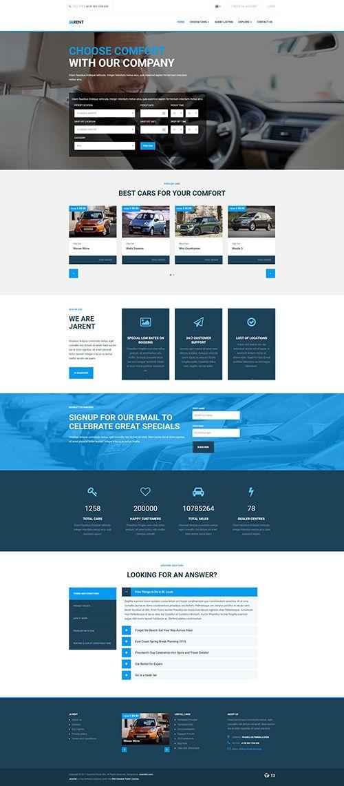 Download JoomlArt  JA Rent v1.0.5  Responsive Joomla template for Vehicles Rental Service Free