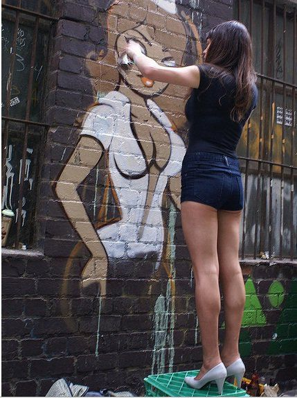 Fafi: Girl Power In Action #Graffiti #Art: Artist Deb, Girls, Artists, Urban Art, Graffiti Art, Streetart