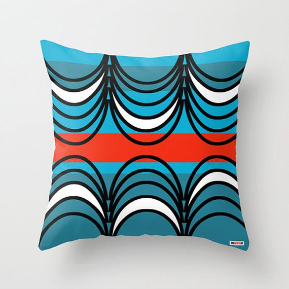 Blue and Black Decorative throw pillow cover - Geometric pillow cover - Designer pillow - Modern pillow cover - contemporary pillow This exclusive