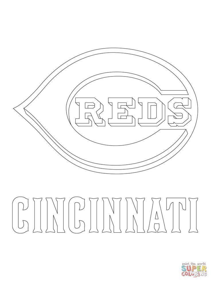 Cincinnati Reds Logo Super Coloring Cincinnati Reds Red Logo Cincinnati