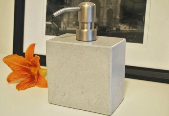 Concrete Soap Dispenser / Concrete Soap Pump / Kitchen Soap Dispenser Pump / Liquid Soap Dispenser by fmcdesign on Etsy https://www.etsy.com/listing/150107029/concrete-soap-dispenser-concrete-soap
