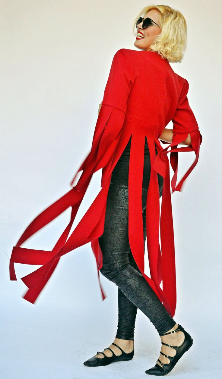 Extravagant Red Jacket, Funky Red Fringe Jacket, Extravagant Red Jacket with Long Fringes TC67, Fringe Jacket by TEYXO https://www.etsy.com/listing/481488731/extravagant-red-jacket-funky-red-fringe?utm_campaign=crowdfire&utm_content=crowdfire&utm_medium=social&utm_source=pinterest