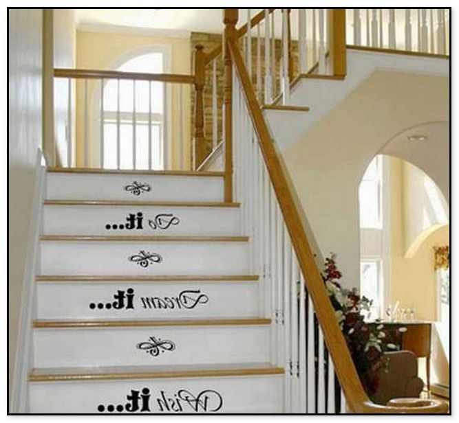 Staircase Design With Easy Stencil