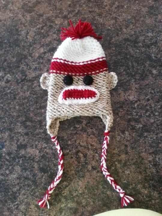 Easy knit monkey hat