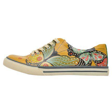 Bunte Sneaker mit schönen Motiven und kreativen Designs - Dogo Sneaker - Butterflies in My Stomach  im DOGO Onlineshop bestellen!