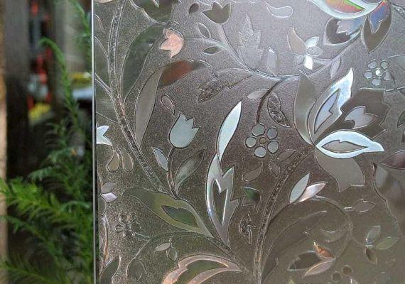 Fensterfolie 3D-Ansicht Milchglas gebeizt Aufkleber statische Klarsichtfolie Privatsphäre Fenster Kunst Glasdesign 45x100cm
