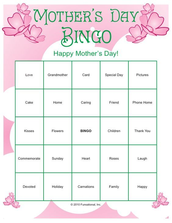mother 39 s day printables more occassions mother 39 s day games mother 39 s day pinterest. Black Bedroom Furniture Sets. Home Design Ideas