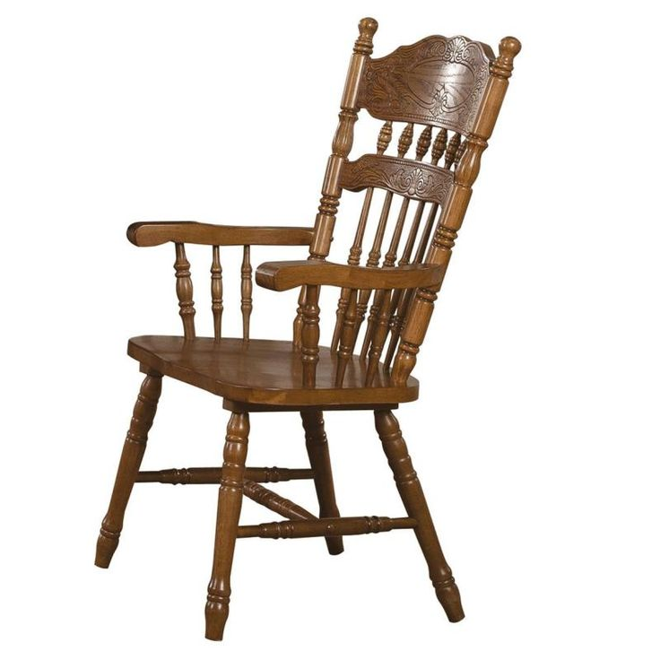 Brooks by Coaster 104273 Country Medium Oak Dining Chair