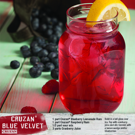 Part Cruzan® Blueberry Lemonade Rum 1 Part Cruzan® Raspberry Rum ...