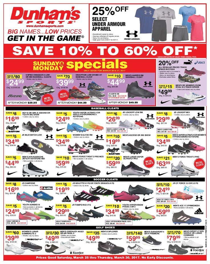 Dunham Sports Weekly Circular March 25 - 30, 2017 - http://www.olcatalog.com/dunhams-sports/dunham-sports.html