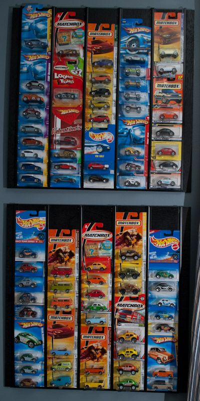 How to DIY display case for hot wheels/ matchbox cars (1:64 scale) in boxes - For the Man Hole: Man Cave, Diy Hot, Hot Wheels Matchbox, Matchbox Cars, Display Cases, Hotwheels Cars, Cars 1 64, Diy Display, Wheels Racks
