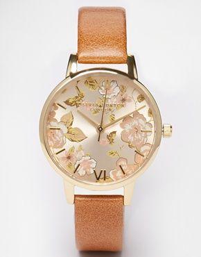 Olivia+Burton+Parlour+Camel+Watch