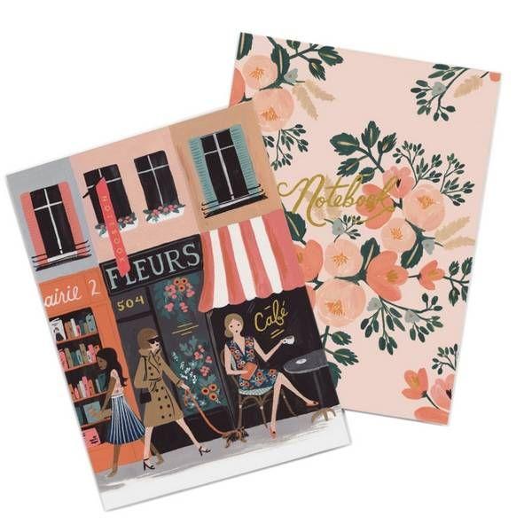 Rifle Paper Co. Set van 2 Notitieboeken Parisian