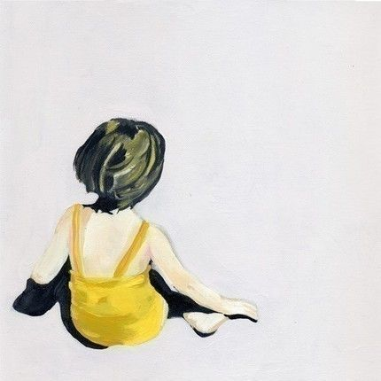 Girl in the Yellow Suit print by Kikiandpolly.  Available at their etsy store.