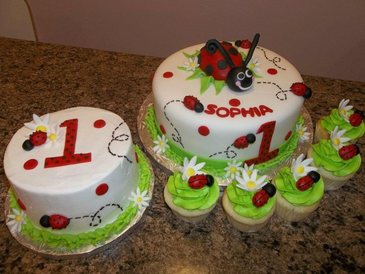 ladybug cakes for kids                                                                                                                                                      More