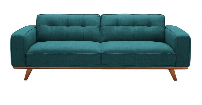 Annaliese Blue Fabric Sofa Sofa Fabric Sofa Living Room Furniture