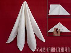 Servietten falten: Vom Tafelspitz zur Bestecktasche | Aus meinem Kochtopf